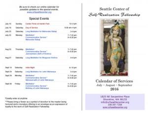 Summer Events Calendar